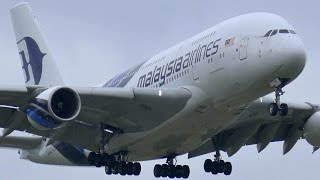 Download INCREDIBLE Malaysia Airlines Airbus A380-800 Landing & Takeoff ● Melbourne Airport Plane Spotting Video