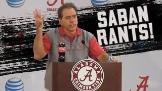 Download Nick Saban's best press conference moments and rants! (NSFW) Video
