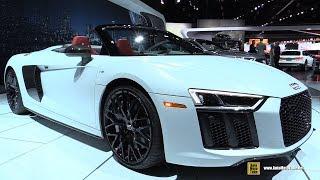 Download 2018 Audi R8 V10 Plus Roadster - Exterior and Interior Walkaround - 2017 LA Auto Show Video