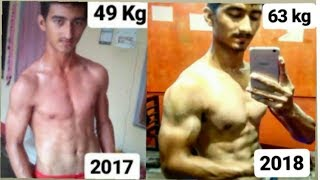 Download Bharat Chand | 1 Year Incredible Natural Body Transformation | From Skinny to Fit Video