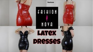 Download Fashionnova Latex Dress Review and Try On Haul Video