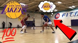 Download Lonzo Ball, Lamelo Ball And LiAngelo Ball PLAYING Pick Up Basketball After LAKERS DRAFT LOTTERY! Video