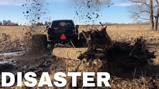 Download Pulling 1200lb Logs through DEEP mud with my 1500hp Duramax on 36 WIDES Video