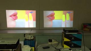 Download Comparison video effect between home projector UC80(left) and UC40(right) Video