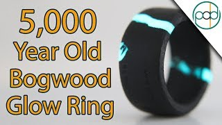 Download Making a 5000 Year Old Glow Ring Out of Bog Wood Video