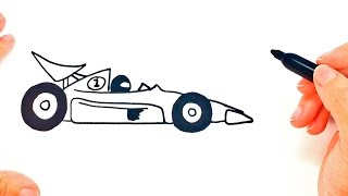 Download How to draw a Race Car step by step | Race Car Easy Draw Tutorial Video