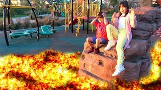 Download マグマ!!? 公園で遊べない!! アニア くじらに乗って遊んだよ!! おゆうぎ こうくんねみちゃん Video