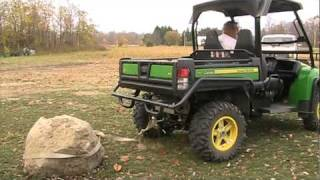 Download John Deere Gator 825I pulling pet rock Video