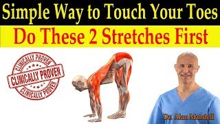 Download Simple Way to Touch Your Toes for Healthy Flexibility (Do These 2 Stretches First) - Dr Mandell, DC Video