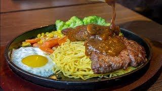 Download $4 Steak Pork Knuckles & Grilled Stuffed Pork Rolls Sausage | Street Food in Taiwan Video