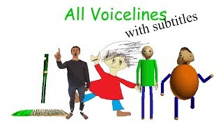Download All Voicelines with Subtitles | Baldi's Basics in Education and Learning (v1.2) Video