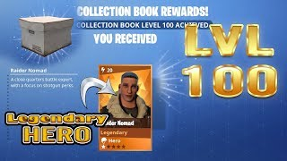 Download Fortnite | Lvl 100 Collection Book Legendary Hero | Raider Nomad Video