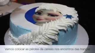 Download Bolo da Elsa (Frozen) - Trança feita com Chantilly Video