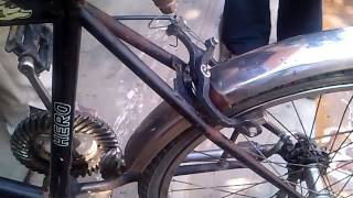 Download Chainless Bicycle Shaft Driven Mechanical Project Video