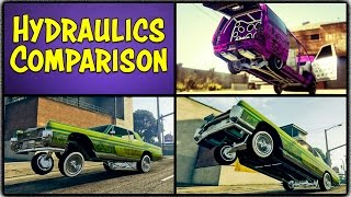 Download GTA 5 Online ″HYDRAULICS″ COMPARISON! All 4 Tiers Tested! Which One is the Best? (Lowrider DLC) Video