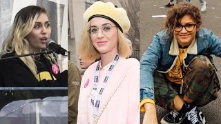 Download Zendaya, Katy Perry, Miley Cyrus & MORE Celebs Support Women's March Video