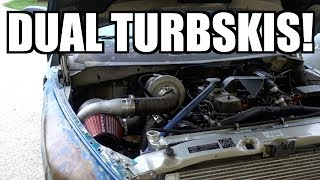 Download 12V CUMMINS SOUNDS LIKE A JET TAKING OFF!!! FAB YOUR OWN COMPOUND TURBSKIS!!! Video