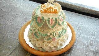 Download УКРАШЕНИЕ ТОРТОВ-Двух-ярусный торт Светик- Cake decoration Video