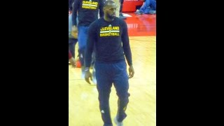 Download LeBron James makes his first appearance...Rockets-Cavs...3/12/17 Video