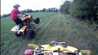 Download Honda 400ex vs Suzuki ltz400 drag race Video