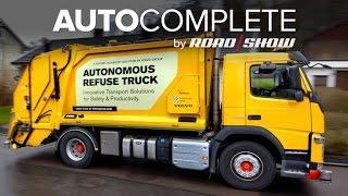 Download AutoComplete: Volvo unveils its autonomous garbage truck project Video
