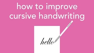 Download how to improve cursive handwriting Video