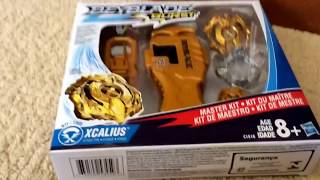 Download HASBRO BEYBLADE BURST MASTER KIT + CODES! GOLDEN XCALIUS AND STRING LAUNCHER! Video