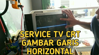 Download Cara Service TV CRT(Tabung) kerusakan gambar garis Horizontal Video