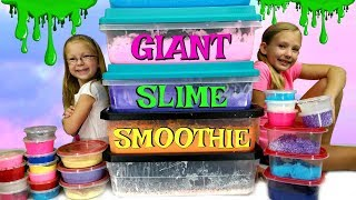 Download MIXING ALL OUR GIANT SLIMES!!! - DIY Giant Slime Smoothie!!! Video