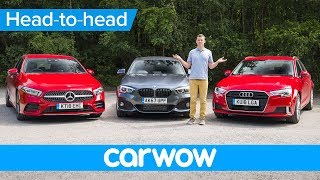 Download New Mercedes A-Class vs BMW 1 Series vs Audi A3 2019 review - which is the best premium small car. Video