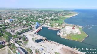 Download город Cкадовск и остров Джарылгач аэросъемка Video