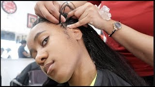 Download GETTING MY HAIR BRAIDED FOR THE FIRST TIME Video