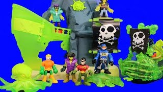 Download Imaginext Ghost Pirate Island Capture Aquaman Robo Shark Batman and Robin Save the Day Video