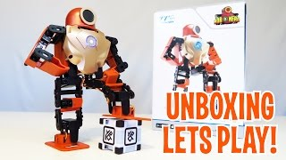 Download Unboxing & Let's Play - ROBOHERO - Humanoid Robot Review - Intelligent Toy like Cozmo! Video