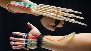 Download X-MEN WOLVERINE Claws fully automatic DIY tutorial - Popsicle sticks Video