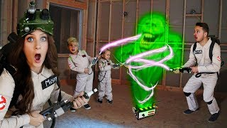 Download Ghostbusters Family In Real Life EXPLORE HAUNTED CONSTRUCTION SITE! Video