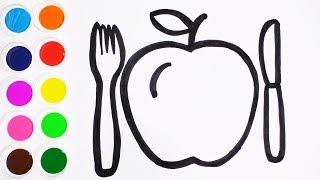 Download Learn Colors - Dibujando y Pintando Una Manzana - Coloreando Familia de Peppa Pig / FunKeep Video