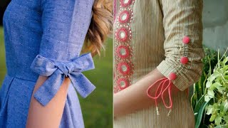 Download cotton kurta sleeves design ideas/beautiful bow sleeves design/new style sleeves for suit Video