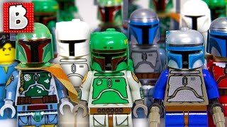 Download Every Lego Boba Fett & Jango Fett Minifigure Ever!!! + Rare Cloud City Boba | Collection Review Video