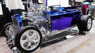 Download 32 Ford Roadster Spectra Chrome ″32 Chromester″ The SEMA Show 2016 Video