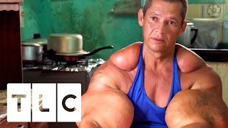 Download Bodybuilders Inject Muscles With Oil | Real Life Hulks Video