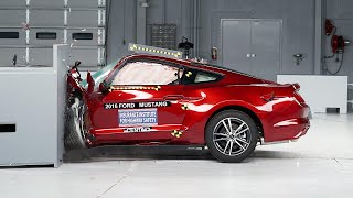 Download 2016 Ford Mustang driver-side small overlap IIHS crash test Video