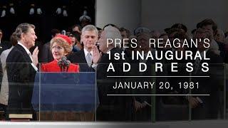 Download 1st Inaugural Address: President Reagans Inaugural Address 1/20/81 Video