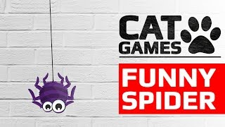 Download CAT GAMES - FUNNY SPIDER (ENTERTAINMENT VIDEOS FOR CATS TO WATCH) Video