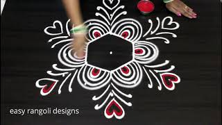 Download Simple 5 dots muggulu    cute kolam designs    easy rangoli Video