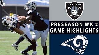 Download Raiders vs. Rams Highlights | NFL 2018 Preseason Week 2 Video