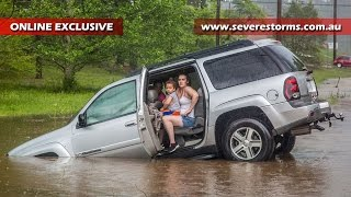 Download Six rescued during severe storm in Selmer, Tennessee Video