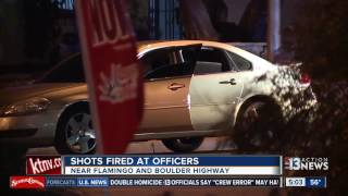 Download Las Veas police shot at while conducting traffic stop Video