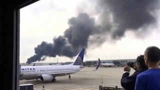 Download American Airlines plane Catches Fire at Chicago O'Hare Airport runway ABC news Video