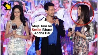 Download Ananya Panday JEALOUS Seeing Tiger Shroff FLIRT With Tara Sutaria At SOTY 2 The Jawani Song Launch Video